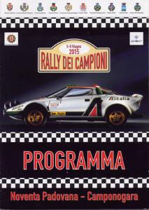 Rally dei Campioni 2015 - das Programmheft