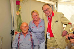 M. Pfundner mit Sir Stirling Moss und Lady Susan 2015 in Gröbning