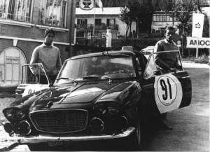 Claudio Maglioli als Beifahrer von Marco Crosina Rallye San Martino di Castrozza 1965