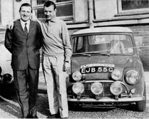 Giorgio Pianta mit Rauno Aaltonen, Prag 1965 bei der Rallye Vltava