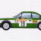 Beta Coupé Rallye-Underdog – von Privat eingesetzt