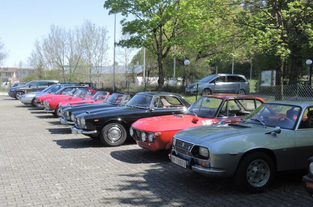 Lancia Club Deutschland Frühjahrestreffen 2016 - alle Lancias gingen nicht auf ein Bild