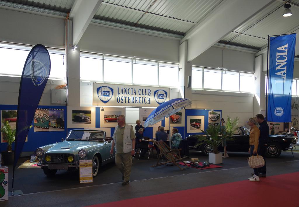 Oldtimer Messe Tulln 2016 - Stand des Lancia Club Österreich