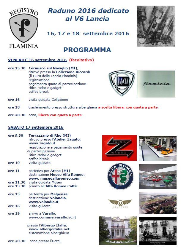 Raduno 2016 dedicato al V6 Lancia - Einladung Seite 2