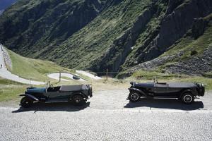Zwei Lambdas auf der Tremola (alte Gotthardpass-Strasse)