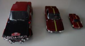 Lancia Fulvia Modelle in drei Maßstäben