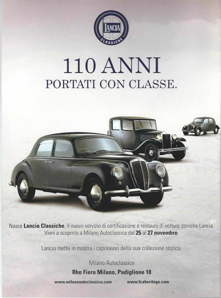 Lancia Classiche - Ankündigung für die Milano Autoclassica 2016