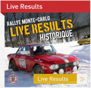 Rallye Monte-Carlo Historique 2017 - laufende Anzeige der Resultate