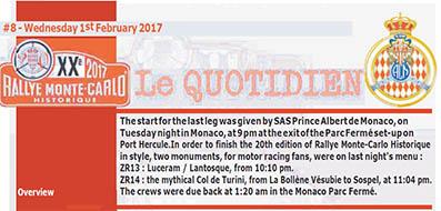 Rallye Monte-Carlo Historique 2017 - die Bulletins des Veranstalters