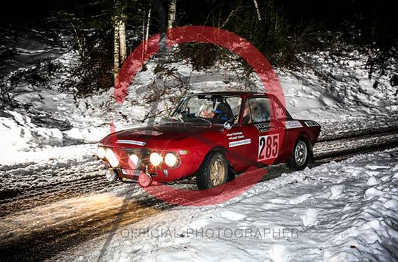 """Rallye Monte-Carlo Historique 2017 - """"zufällig"""" mal etwas Schnee"""