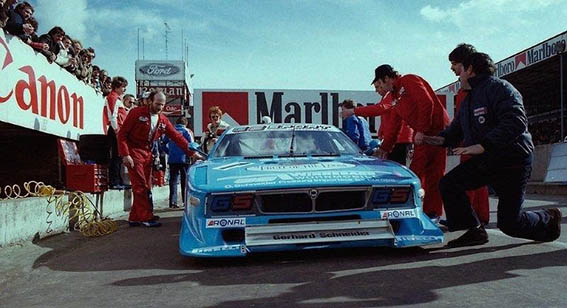 Beta Montecarlo Turbo - Boxenstop in Zolder 1981