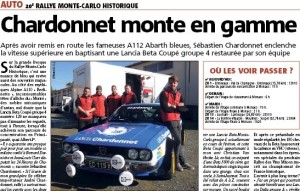 Beta Coupé Chardonnet - Rallye Monte-Carlo Historique 2017