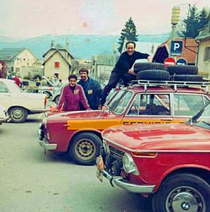 Reparto Corse Lancia - Tulpenrallye 1970 - die Service Flavia Berlina mit M. Brosio, G. Angelaio und niederländischer Unterstützung