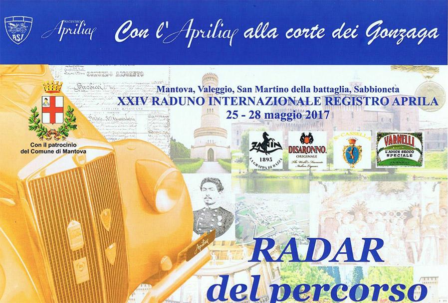 Raduno Registro Aprilia 2017 - das Roadbook