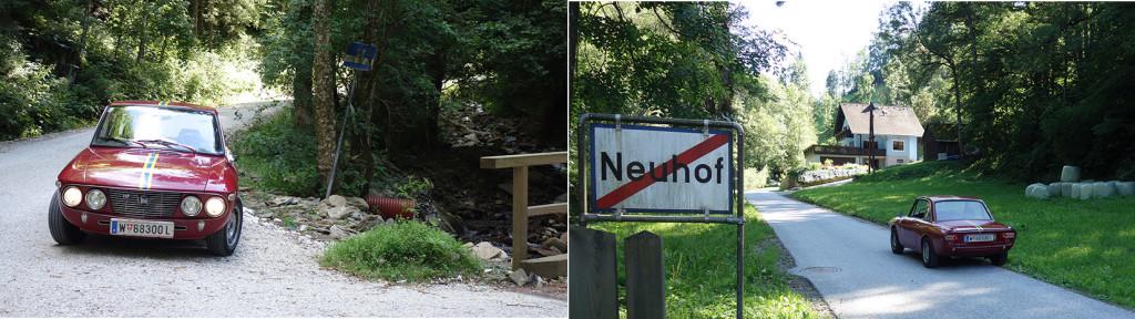 Stübinggraben - heute noch Sandstraße, aber teilweise gesperrt, was aber sehr versteckt angezeigt wird