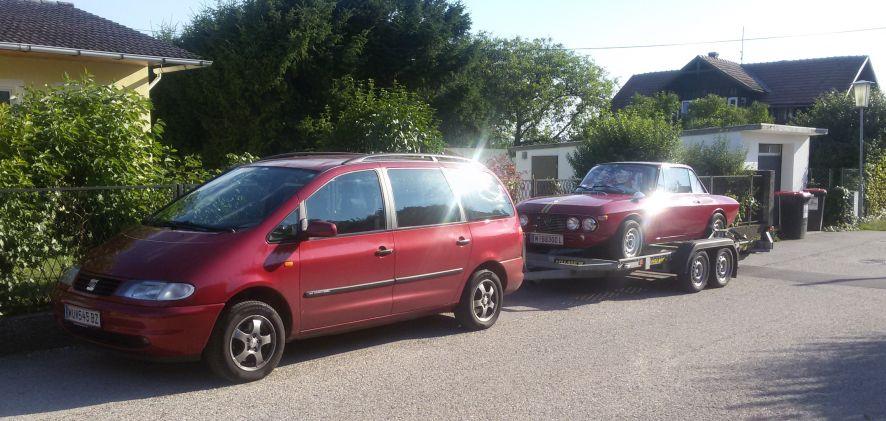 Ennstal Classic 2017 - das Ersatzfahrzeug ist aufgeladen